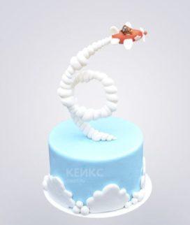 Гравитационный торт оранжевый самолетик
