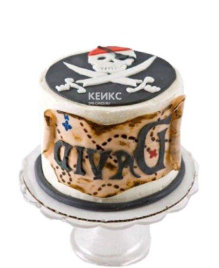 Торт Пираты с картой и черной меткой