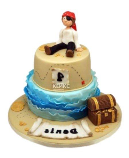 Торт пират с сундуком