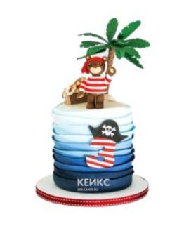 Торт пираты  в виде острова