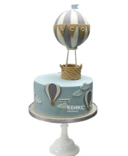 Торт полосатый воздушный шар