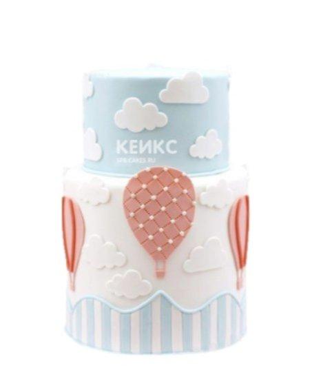 Торт воздушные шары в небе