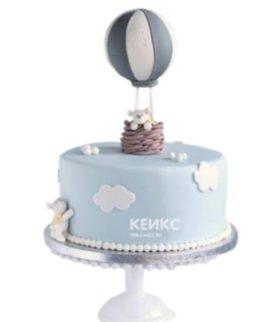 Торт воздушный шар с корзиной