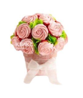 Букет из розовых капкейков