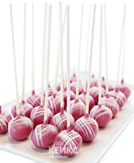 Капкейки кейк попсы розового цвета