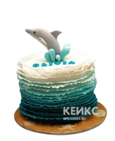Торт Дельфин с брызгами