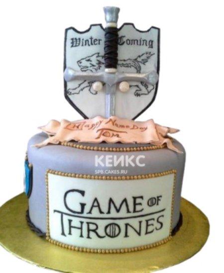 Торт Игра престолов с мечом и щитом