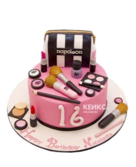 Торт косметика розовый