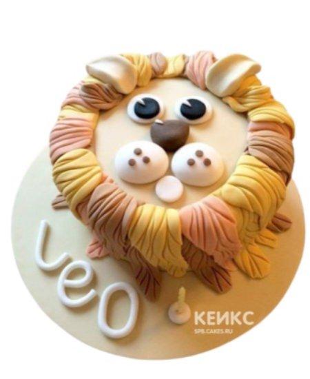 Торт в виде головы льва