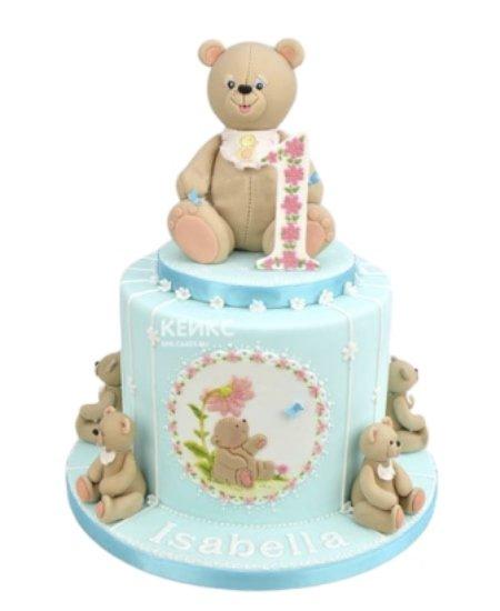 Торт медведь с цифрой