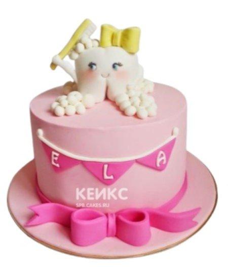 Торт Первый зубик для девочки