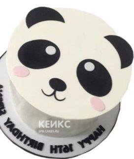 Милый торт в виде мордочки Панды