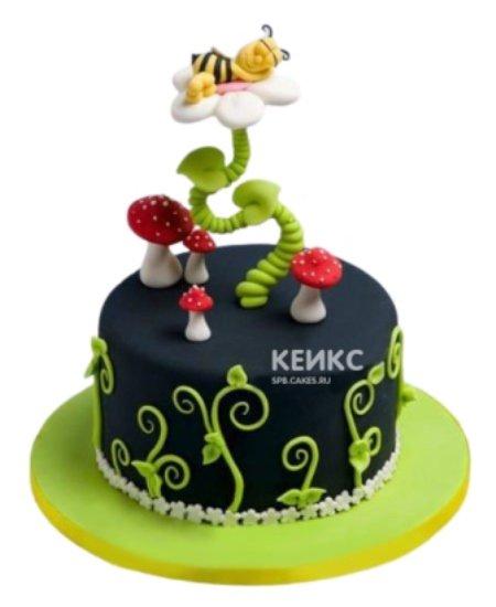 Торт Пчелка спит на ромашке