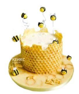 Торт Пчелки с медовыми сотами