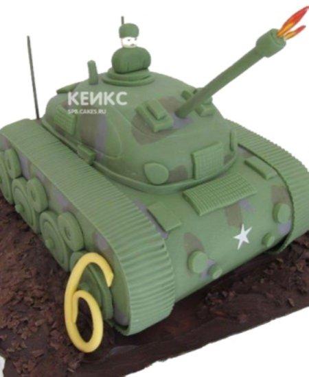 Торт танк с открытым люком