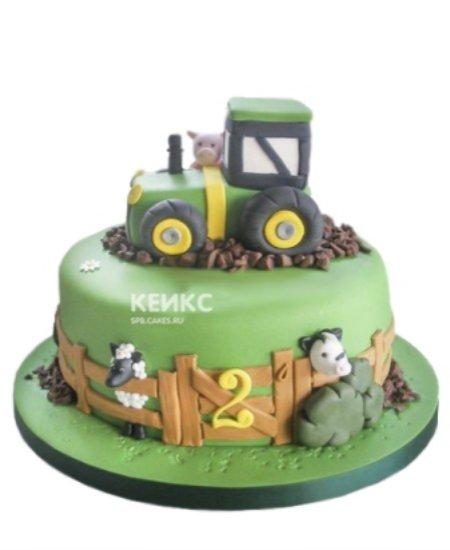 Торт трактор со зверями