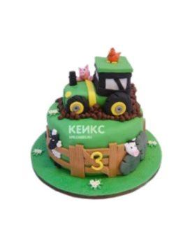 Оригинальный торт в форме трактора из мастики