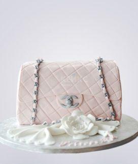 Торт розовая сумка шанель для девочки