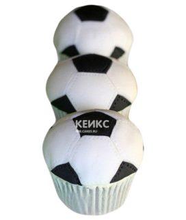 Капкейки футбол в виде мячей