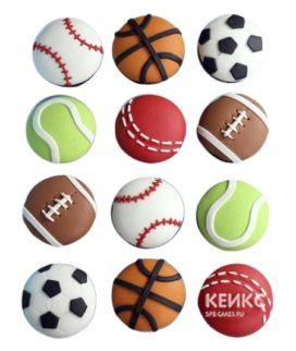 Капкейки футбол в виде разных мячей