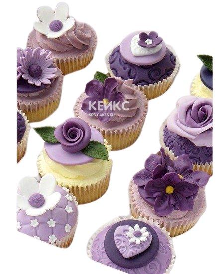 Капкейки с цветами 3