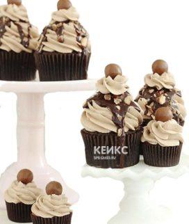 Оригинальные шоколадные капкейки с кремом