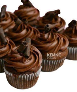 Супер шоколадные капкейки украшенные шоколадными трубочками