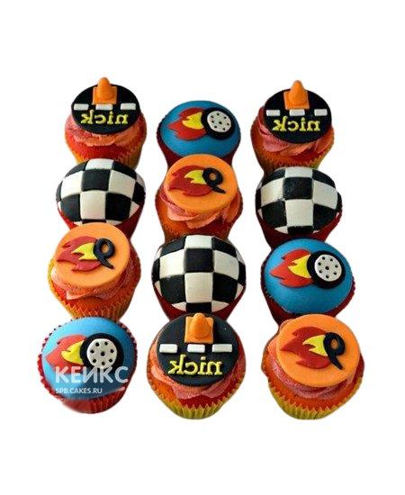 Детские гоночные капкейки для мальчика
