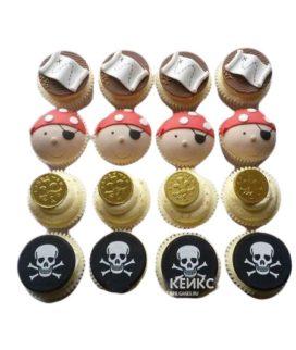 Капкейки на пиратскую тематику для мальчика