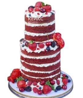 Свадебный торт с вишней 1