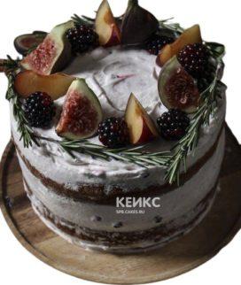 Торт брату с фруктами