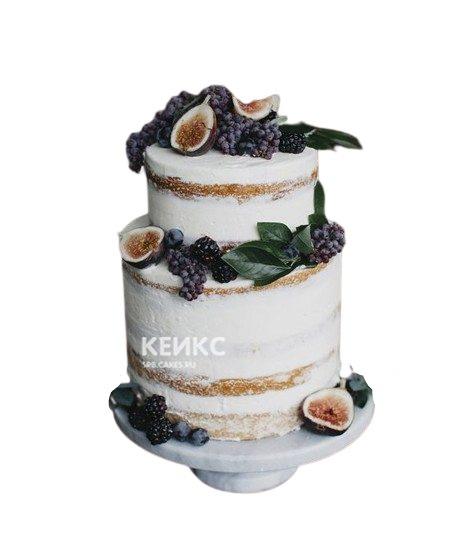 Торт с стиле рустик с ягодами для дедушки