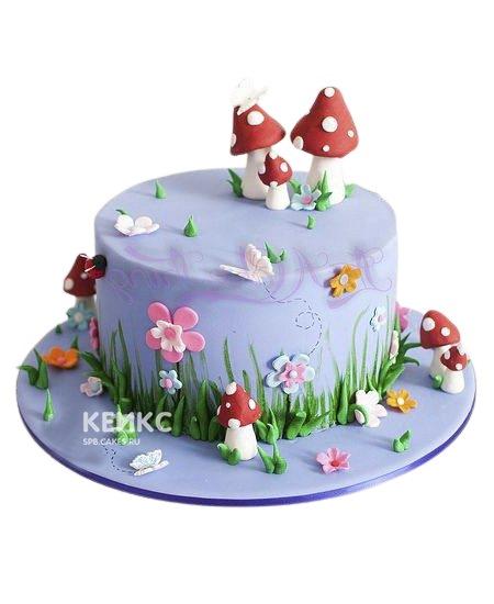 Лиловый торт Сказочная поляна девочке