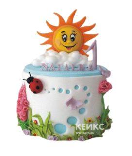 Детский торт Солнышко для девочки