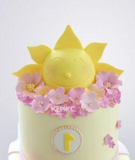 Торт Солнышко для девочек