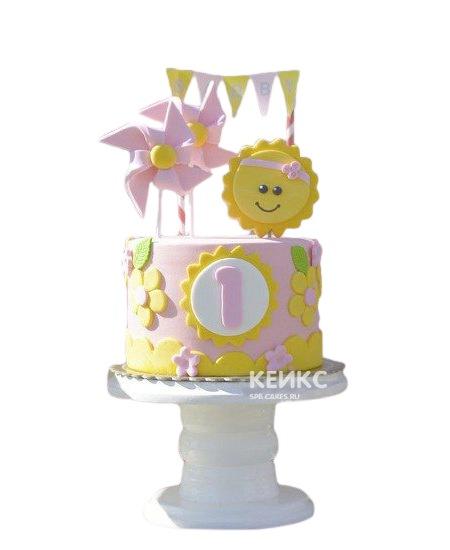 Торт Солнышко для девочки