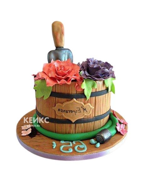 Торт с цветами на день рождения бабушке