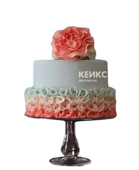 Торт с кремовыми цветами на день рождения бабушке