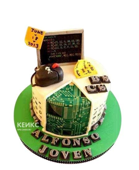 Торт для программиста монитор и мышка