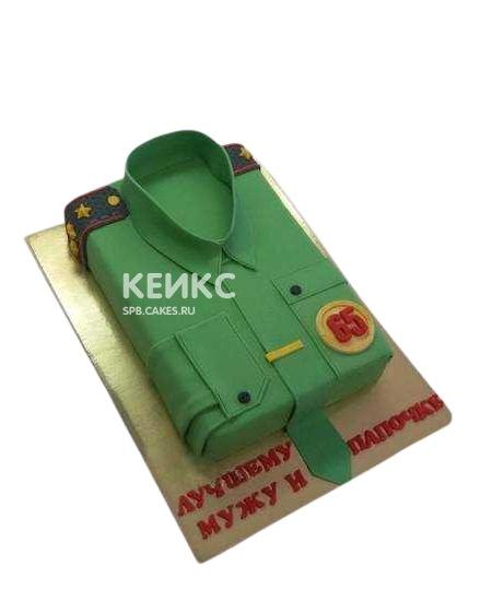 Торт на военную тематику Рубашка военному