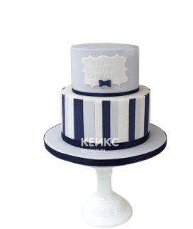 Полосатый торт для друга