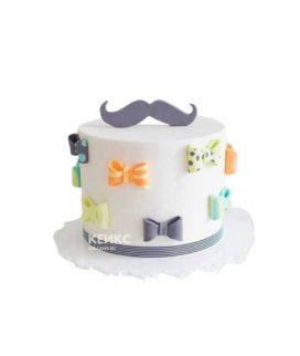 Торт с усами и бабочками на юбилей мужчине 25 лет