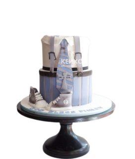 Торт мужчине на юбилей 25 лет рубашка с кедами