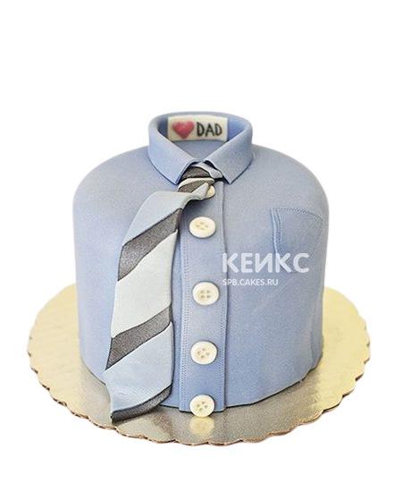 Торт на 25 лет мужчине в виде рубашки с галстуком