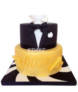 Торт в стиле агента 007 на юбилей мужчине 25 лет