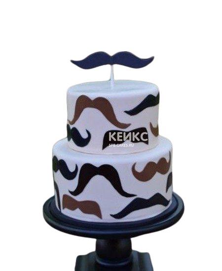 Торт на юбилей мужчине 30 лет с усами разной формы