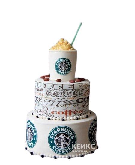 Двухъярусный торт с логотипом
