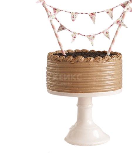 Красивый торт коричневого цвета сестре