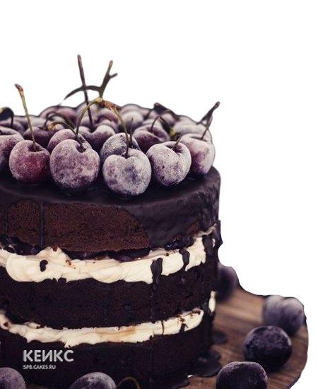 Вкусный торт с вишнями на день рождения сыну