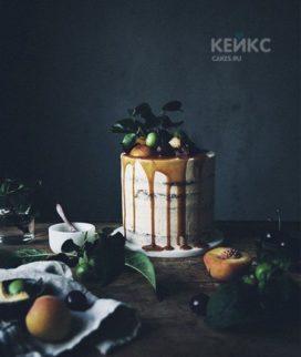 Торт с фруктами на день рождения сыну